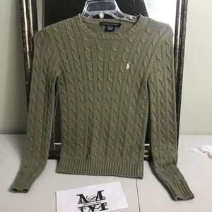 Ralph Lauren black label olive sweater Size S